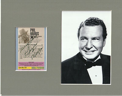 Phil Harris Signed Card Matted with photo 8x10 Frame Size COA 1217