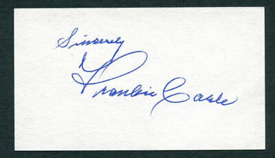Frankie Carle (d. 2001) signed autograph 2x3.5 cut Pianist and Bandleader E109