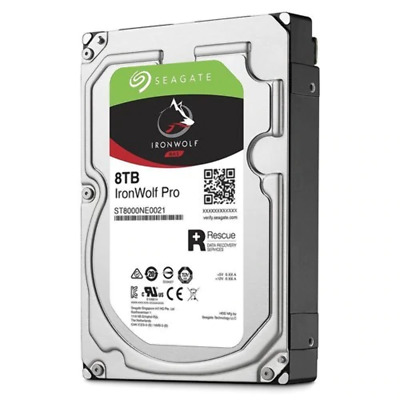 "Seagate IronWolf Pro, 3.5"", 8TB, SATA 6Gb/s, 256MB, 5 Yr Warranty"