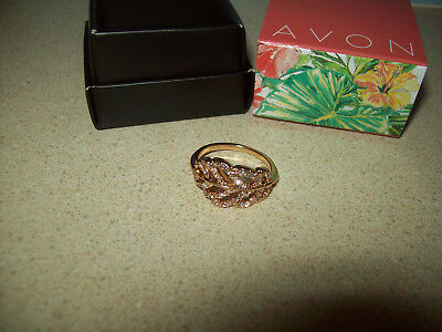 Avon PAVE Ring Size 10 NEW Goldtone