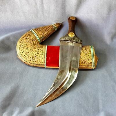 Antique Yemenite Dagger Gilded Silver Filigree Gold coin Handle Islamic Knife