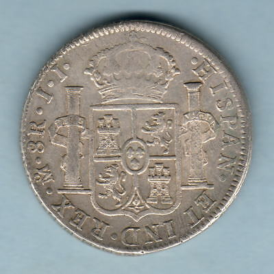 Mexico. 1820-JJ 8 Reales..  VF/gVF - Trace Lustre