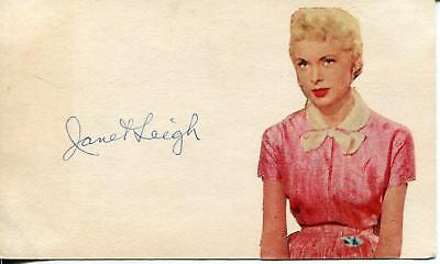 Janet Leigh Autograph Actress In Alfred Hitchcock Movie Psycho Signed Photo Card