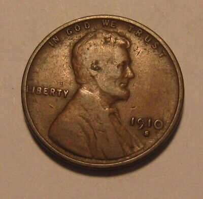 1910 S Lincoln Cent Penny - Fine + Condition - 3FR