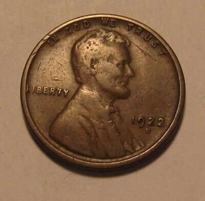 1922 D Lincoln Cent Penny - Fine Condition - 11FR
