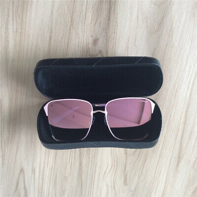 e68605fa446b2 Womens Genuine Leather Vintage Oversized Metal Sunglasses Preowned CHANEL  Pink