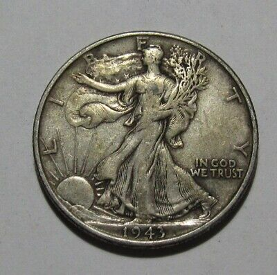 1943 Walking Liberty Half Dollar - Very to Extra Fine Condition - 138FR