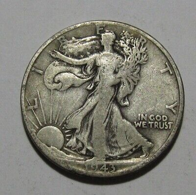 1943 D Walking Liberty Half Dollar - Fine to Very Fine Condition - 139FR