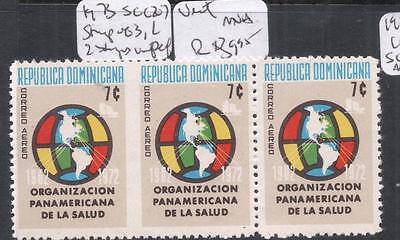 Dominican Republic SC C207 Strip of Three With Pair Imperf Between MNH (3dna)