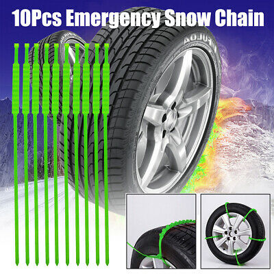 10Pcs Anti-skid Tire Chains for Car Snow Mud Wheel Tyre Thickened Tendon