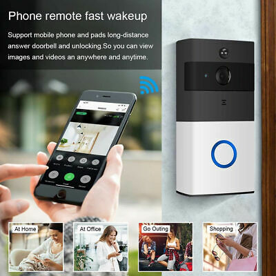 Wireless WiFi Video Door Camera Phone Doorbell Remote PIR Security Bell Intercom