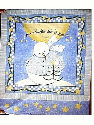 MAKE  A  STAR  OF  WONDER,  STAR  OF  LIGHT  QUILT TOP or WALL  HANGING   Panel
