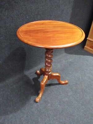 Victorian Mahogany Tripod Table Side Table Stunning Quality Barley Twist Base