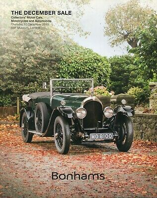 Bonhams December Classic Car Auction Catalogue Raf Museum 10/12/15