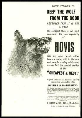 1896 Antique Print - ADVERTISING Hovis Wolf Door Bread Fitton Cheapest Best (13)