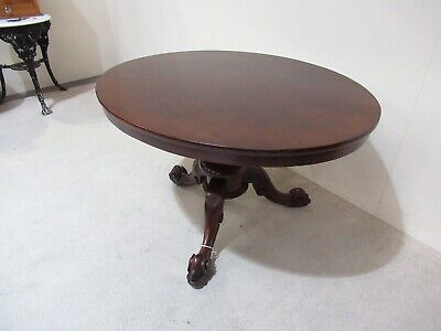 Victorian Mahogany Oval Dining Table Loo Table Lift Top Doncaster Maker Antique