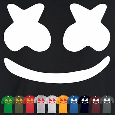Game Top Dj Music Marshmello Unisex Mask Dance Tee Edm Inspired tshirt Casual