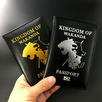 Passport Cover Wakanda Black Panther Travel Asgard Credit Card Case ID Holders