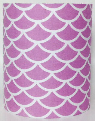 Purple Mermaid Scales Medium Fabric Light Shade