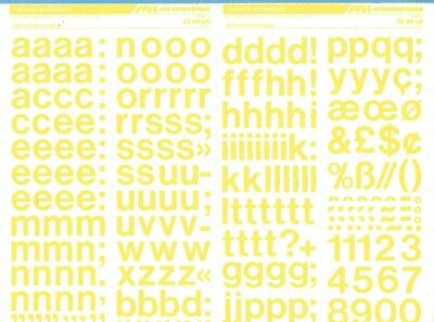 HELVETICA YELLOW 3.9mm MECANORMA Transfers Lettering A3 #284 Fonts,Typo