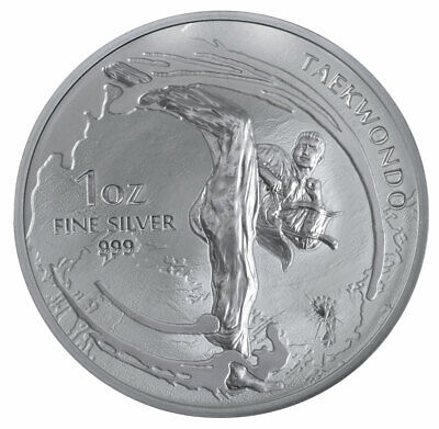 2019 South Korea Taekwondo 1 oz Silver Medal GEM BU SKU57459
