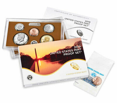 2019 S US Proof Coin Set Plus First Ever WP Mint Cent OGP SKU57499