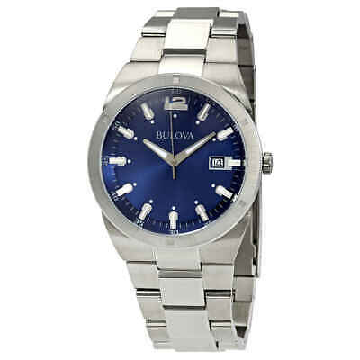 Bulova Classic Blue Dial Stainless Steel Men's Watch 96B220