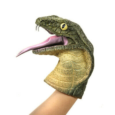 COBRA Hand PUPPET Soft Stretchy Rubber Snake Serpent Viper 6 Inch