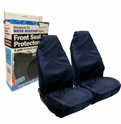 Streetwize Heavy Duty Car Waterproof Front Seat Protector Covers Pair - Blue