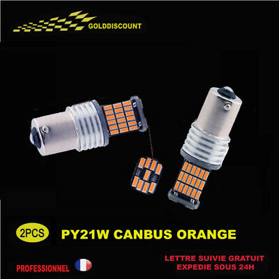 pY21w led canbus anti erreur odb 45 smd orange clignotant -