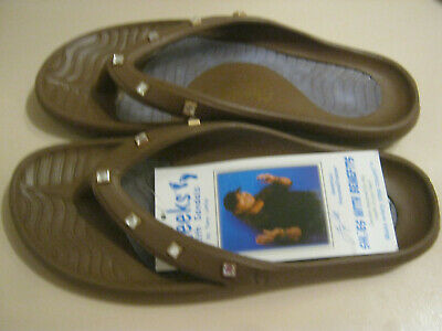 551262f1d Tony Little Cheeks® Jeweled Health Sandal with Gel Footbed Brown 8 New no  Tag
