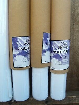 "Artists Canvas  4 Rolls of 32"" x 4m double primed 380gsm Dont miss at this price"