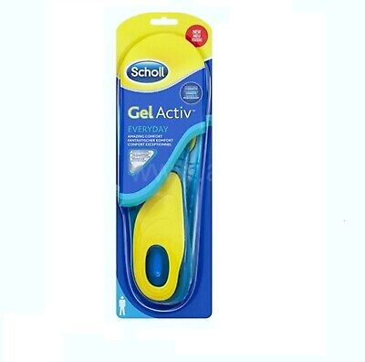 SCHOLL Gel Activ Everyday Shock Absorption Insoles Men (UK 8-13) NEW