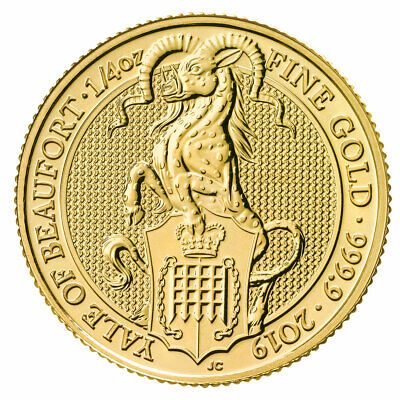 2019 G. Britain 1/4 oz Gold Queen's Beasts Yale of Beaufort Coin GEM BU SKU57449