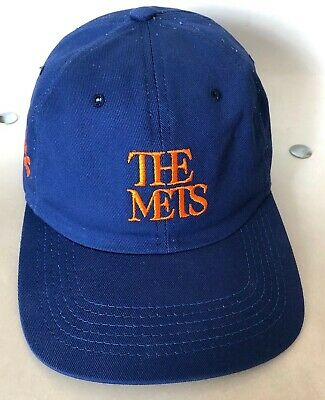 46b6010768d60 New York Mets Snapback Hat Vintage Style Embroidery Mets Font Rare Made in  USA