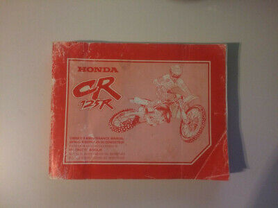 HONDA CR125R owner's maintenance manual