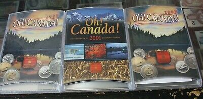 Oh Canada set 1999 2000 2001 Uncirculated coin set