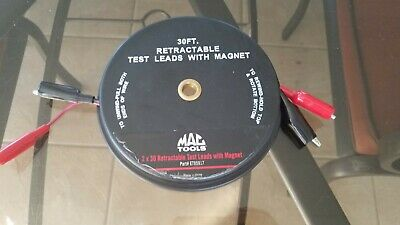 Mac Tools 2-Pc. Retractable Magnetic-Body Test Lead Set 30' Et95917