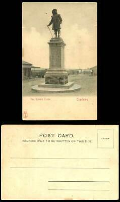 South Africa Old Hand Tinted U.B. Postcard Van Riebeck Statue Capetown Cape Town