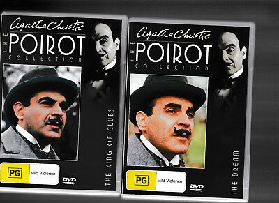 Agatha Christie The Hercule Poirot Collection DVD 25 King Of Clubs/27 The Dream