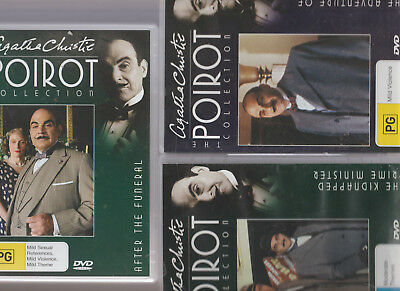 Agatha Christie The Hercule Poirot Collection DVD 20 Funeral/23 Clapham/24 Kidna