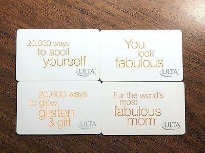 """Ulta Stores Gift Card SET (4) """"Spoil Yourself"""" Makeup Salon Holiday No $ Value"""
