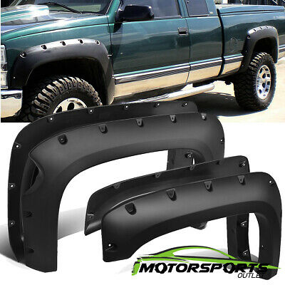 """For 2007-2013 Chevy Silverado 1500 Fender Flares 69"""" Short Bed Pocket Style"""