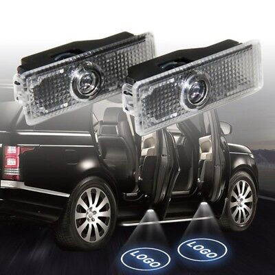 4x CREE LED Door For Land Range Rover Projector Puddle Shadow Laser Light Logo