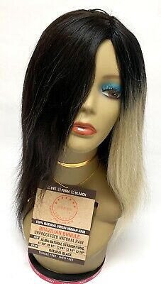 "100% Human Hair 12""Mannequin Manikin Head Human Hair Styling Cutting Braiding."