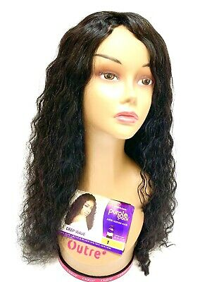 "100% Human Hair 18"" Mannequin Outre Deep wave Styling Cutting Braiding."