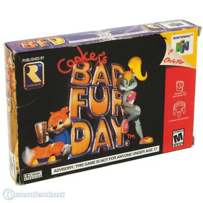 N64 / Nintendo 64 game - Conker's Bad Fur Day BFD US boxed