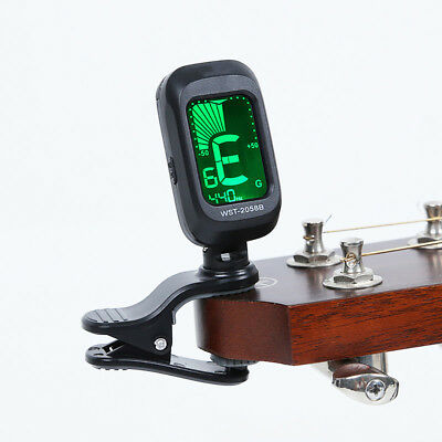 JT_ Clip-on LCD Acoustic Electric Guitar Violin Ukulele Chromatic Tuner Correc