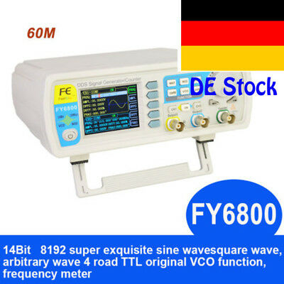 FY6800-60M DDS Signal Generator Dual-Ch 0.01-100MHz Function Arbitrary Waveform