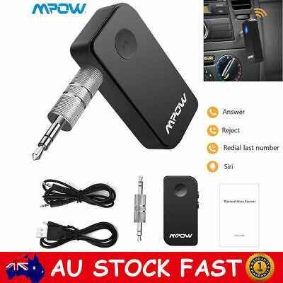 MPOW Wireless Bluetooth 5.0 Receiver Car 3.5mm AUX Stereo Audio Music Adapter AU